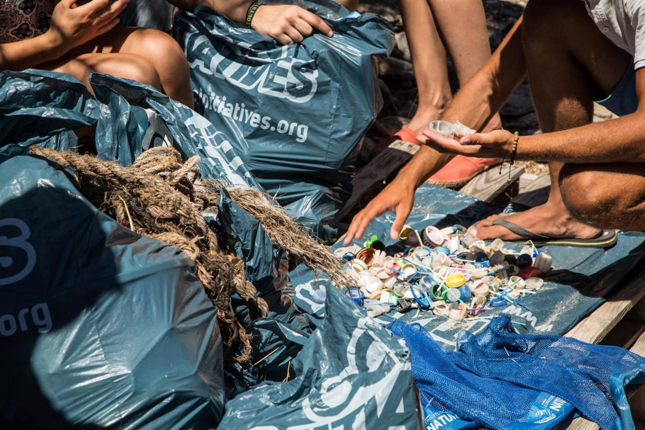 Collecte plastique sur le littoral méditerraneen